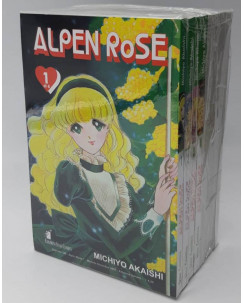 Alpen Rose 1/8 serie COMPLETA di Akaishi ed. Star Comics NUOVI