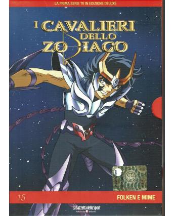 I Cavalieri dello Zodiaco 15 Folken e Mime DVD Gazzetta Yamato