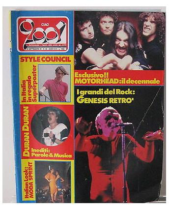 Ciao 2001 N. 38 1985 Duran Duran Motorhead