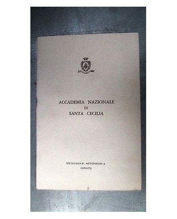 Accademia Sinfonica S. Cecilia St. sinfonica 1970/71 [RS] A48
