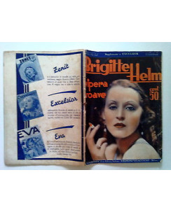 Brigitte Helm Vipera Soave * Suppl. Excelsior ago. 1933 FC