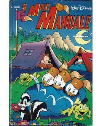 Il Maxy manuale Giovani Marmotte prima ed. 1991 Disney