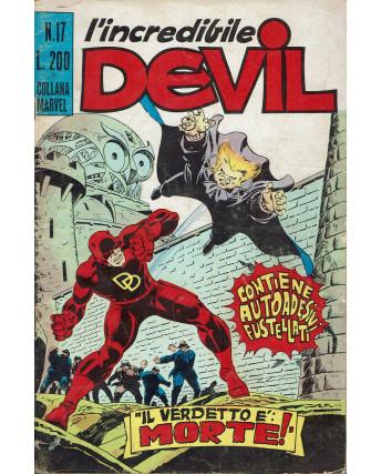 L'Incredibile Devil n. 17 il verdetto è morte! ed. Corno