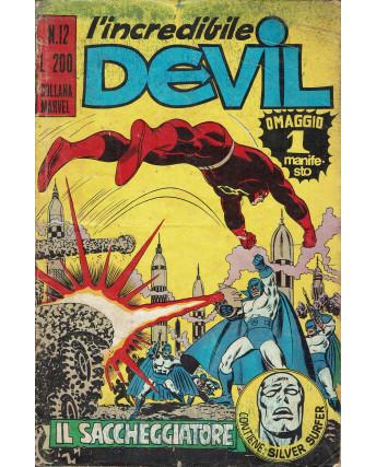 L'Incredibile Devil n. 12 il saccheggiatore ed. Corno