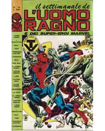 Il settimanale de l'Uomo Ragno e dei Super-Eroi Marvel n. 14 ed. Corno