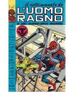Il settimanale de l'Uomo Ragno e dei Super-Eroi Marvel n. 17 ed. Corno