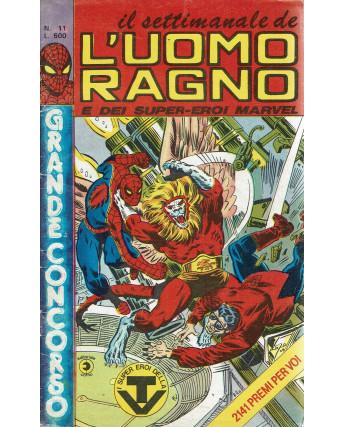 Il settimanale de l'Uomo Ragno e dei Super-Eroi Marvel n. 11 ed. Corno