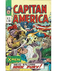 Capitan America n. 13 devo salvare Nick Fury ed. Corno