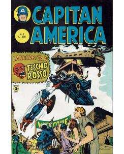 Capitan America  7 II serie la vendetta di Teschio Rosso ed. Corno