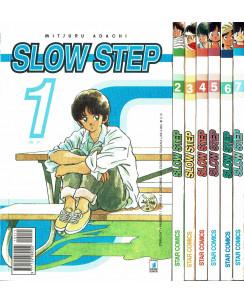 Slow Step 1/7 serie COMPLETA di Adachi ed. Star Comics